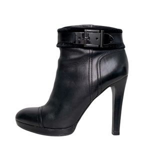 Tory Burch Belinda Bootie Black Platform Ankle Boot Sz 8